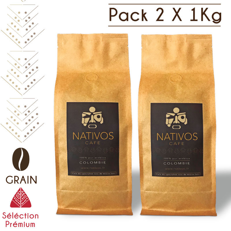 Pack café en grain micro-lot colombie